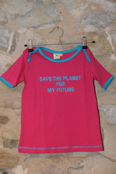 T-shirt rose save the planet