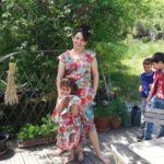 Robe américaine à fleurs